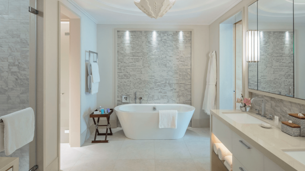 beautiful bathroom interiors shot at The Regent Porto Montenegro