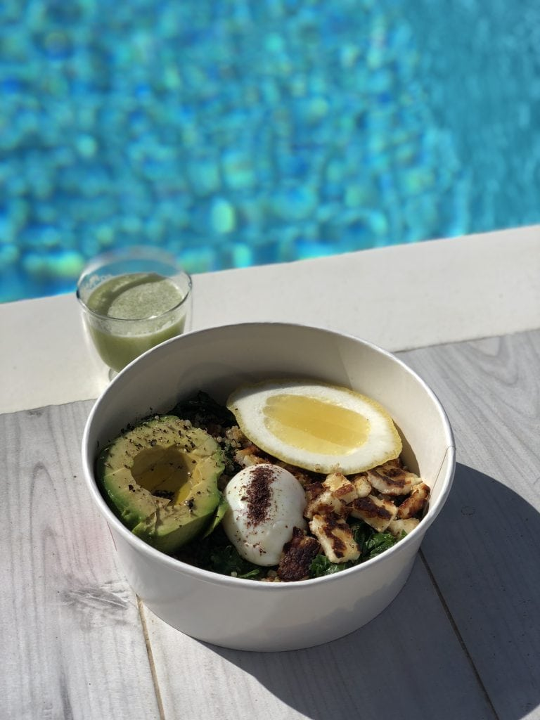 organic healthy meals from Bowl Mykonos on the Helios Fitness retreat
