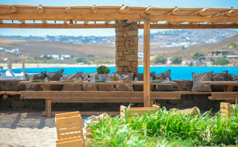 Farma restaurant Mykonos, organic farm to table restaurant