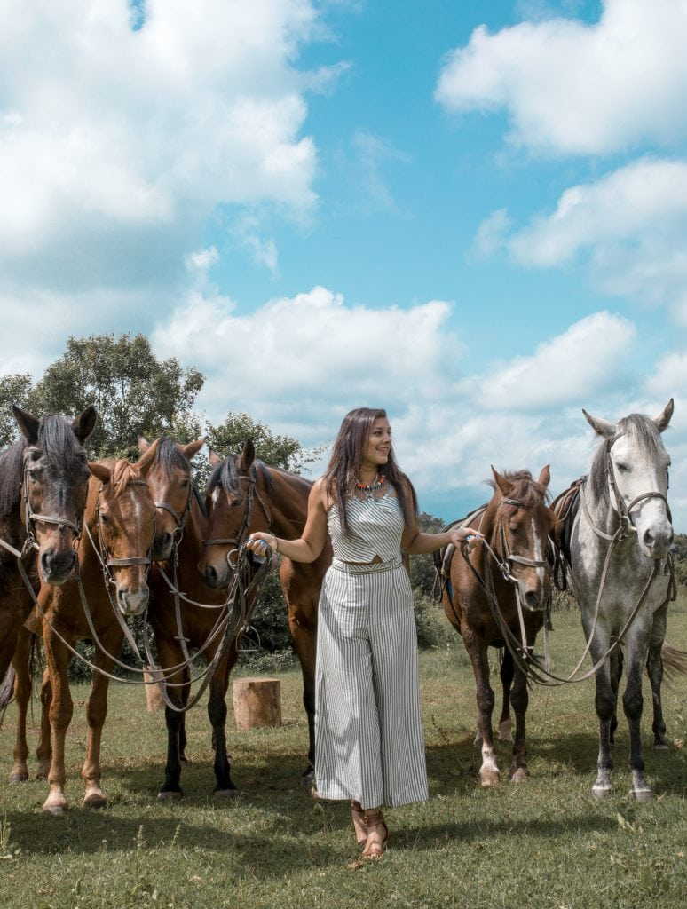 Bonnie Rakhit staying at fairmont Mount Kenya horse riding trek