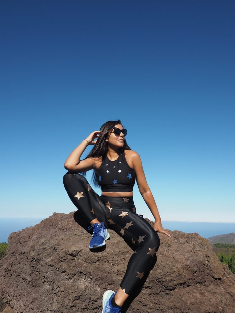 climbing mount Teide tenerife stylish sports wear Bonnie Rakhit