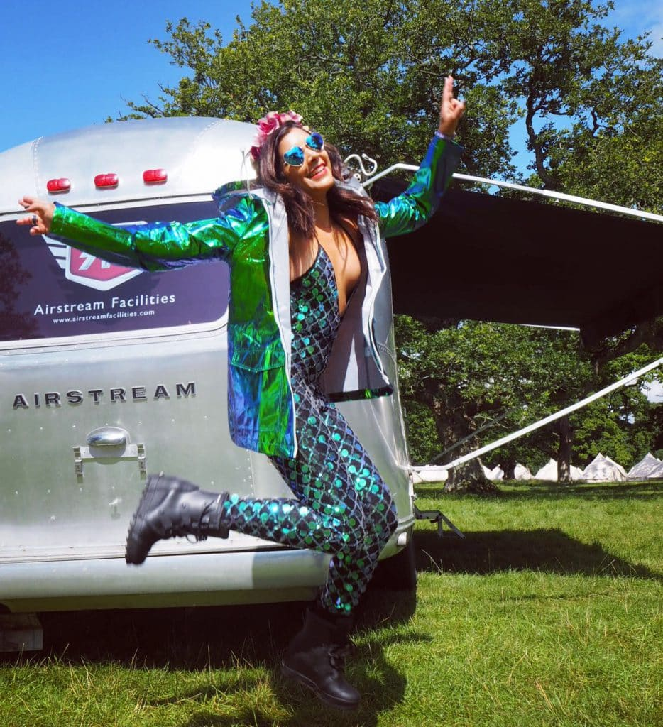 Wilderness festival 2018 best festivals in UK what to wear sequin catsuit airstream Bonnie Rakhit