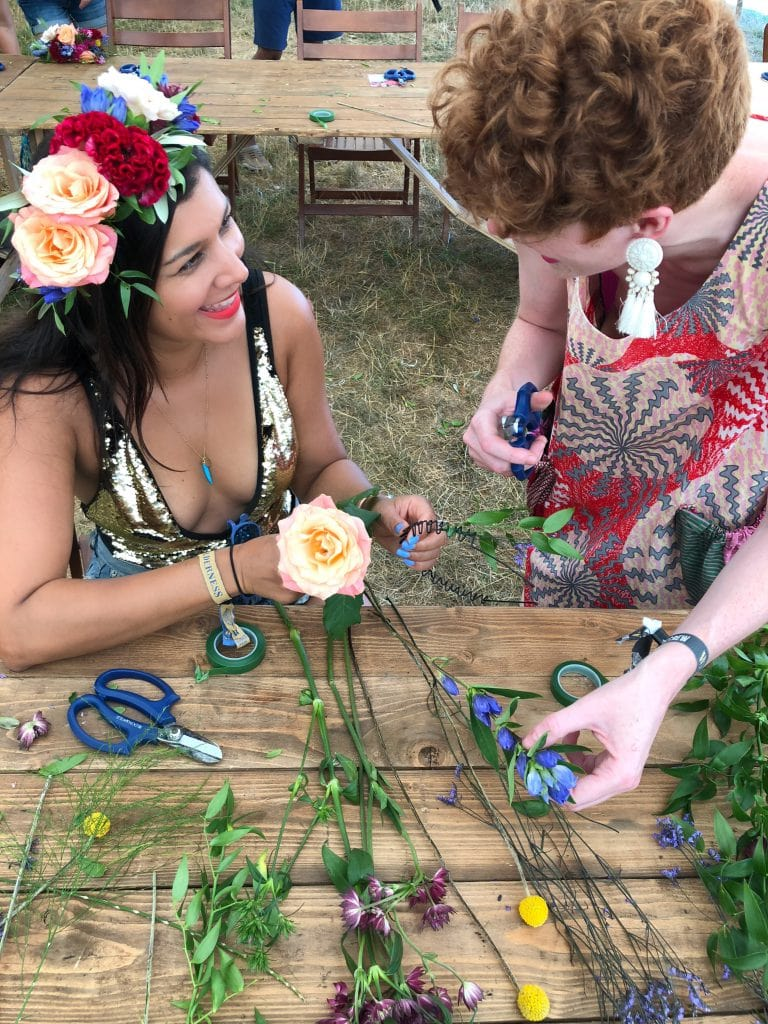 Making Festival Flower Crowns with Bloom & Wild Bonnie Rakhit accessories