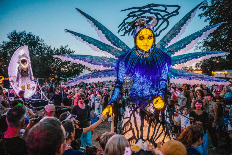 Fun and fireworks and art installations at Wilderness Festival 2018 and floats