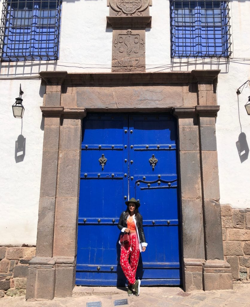 Bonnie Rakhit adventure in Peru, Peruvian architecture and doorway, Cusco