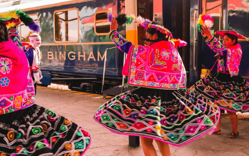 Bonnie Rakhit Peru in Luxury Hiram Belmond Bingham train to Machu Picchu and Sacred Valley travel ceremony