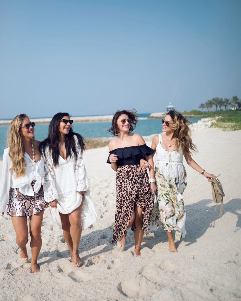 Bonnie Rakhit style traveller with whitneys wonderland, maja malnar, elena sandor sex and the city girls holiday to Bahrain