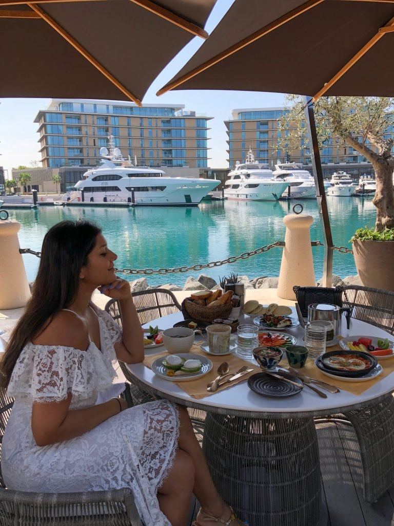 Bonnie Rakhit best brunch spot yachts Dubai Bulgari resort. breakfast