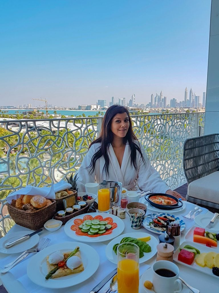 Bonnie Rakhit most expensive coolest fashion hotels Dubai Bulgari resort. breakfast