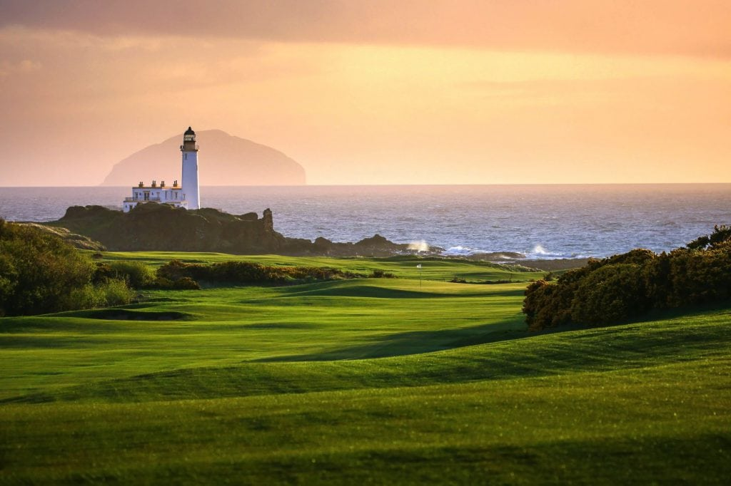 lighthouse on the golf course Scotland