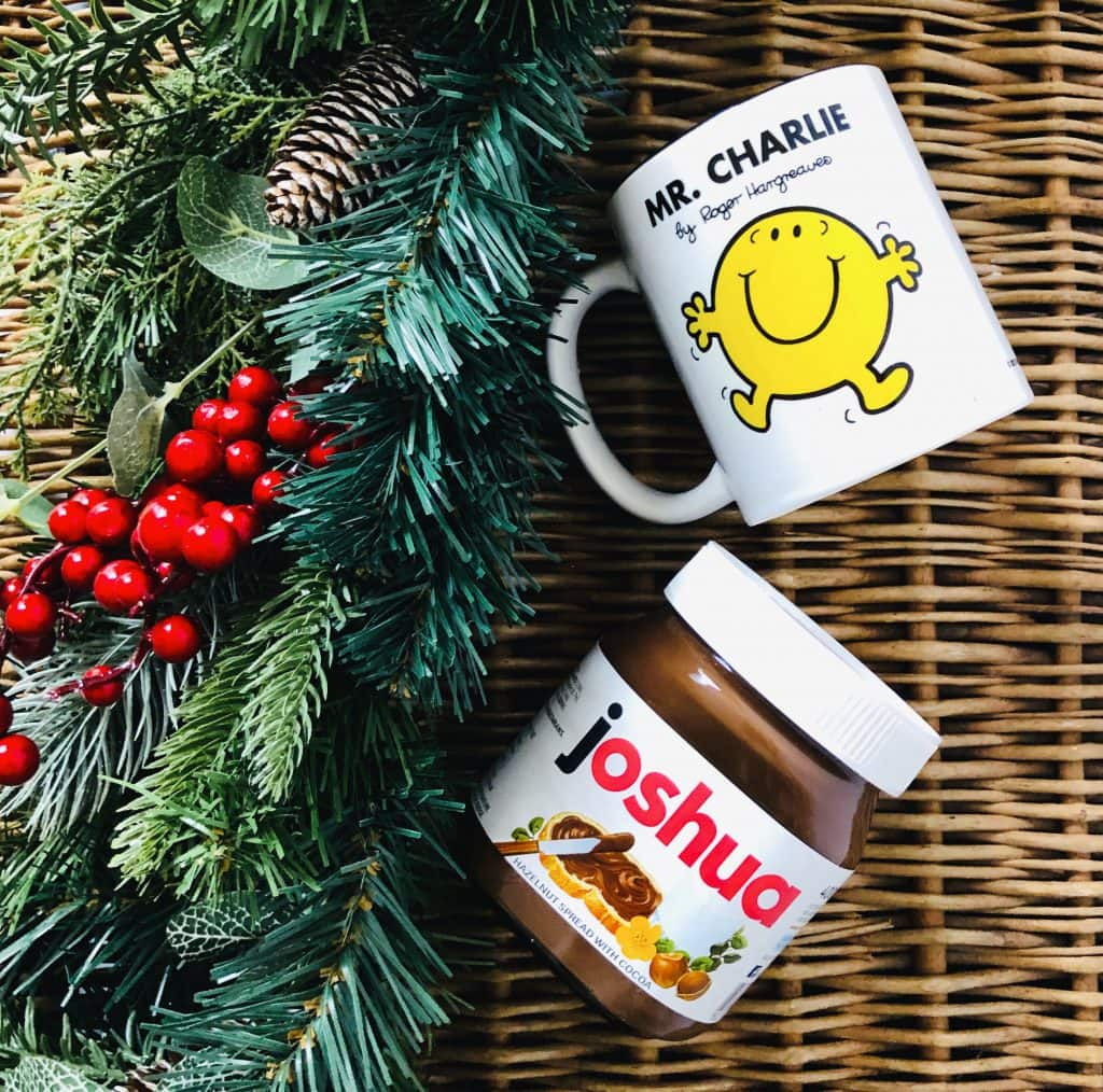personalised nutella and mr man cup from Debenhams