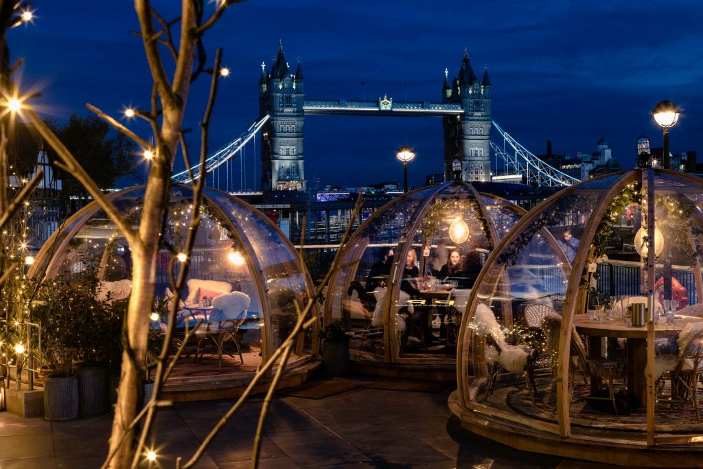 Bonnie Rakhit London Christmas Locations Coppa Club igloos