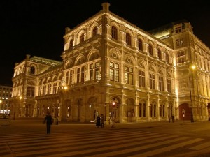 Vienna night opera theatre