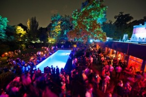 Vienna summer nightlife clubbing party