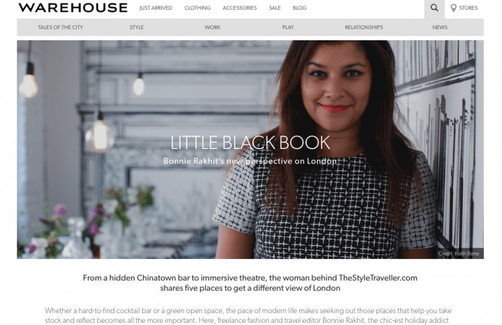 TheStyleTraveller guides on Warehouse.co.uk - Sept 14