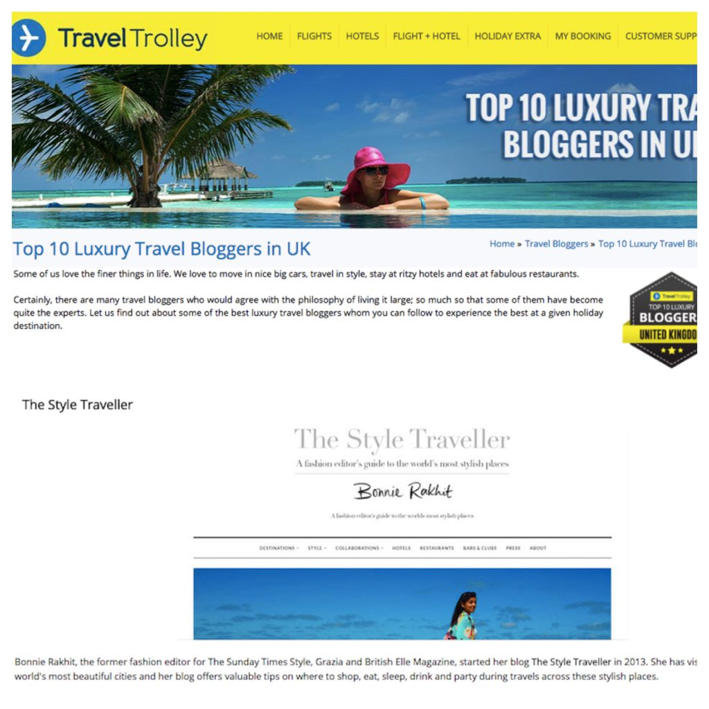 TRAVEL TROLLEY TOP TEN AWARDS - SEPT 17