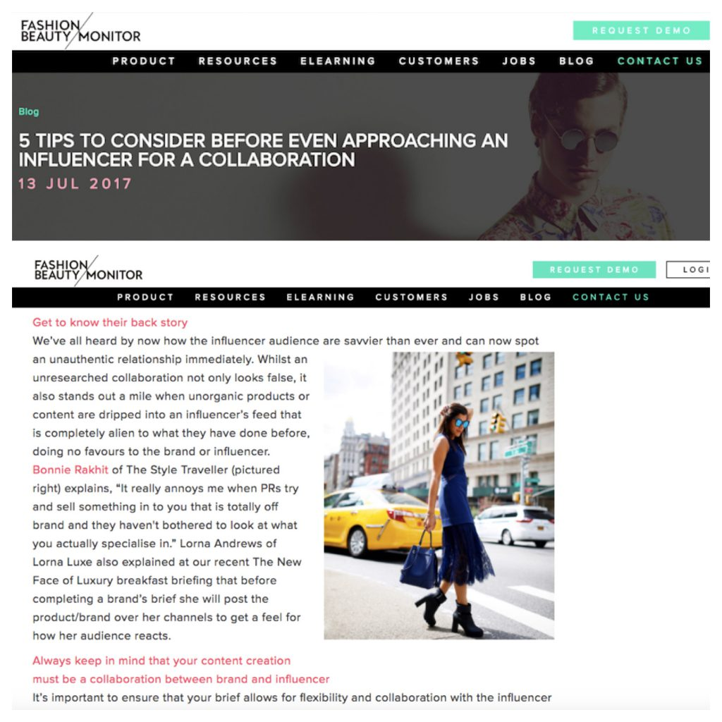 FASHION MONITOR INFLUENCER TIPS - OCT 17