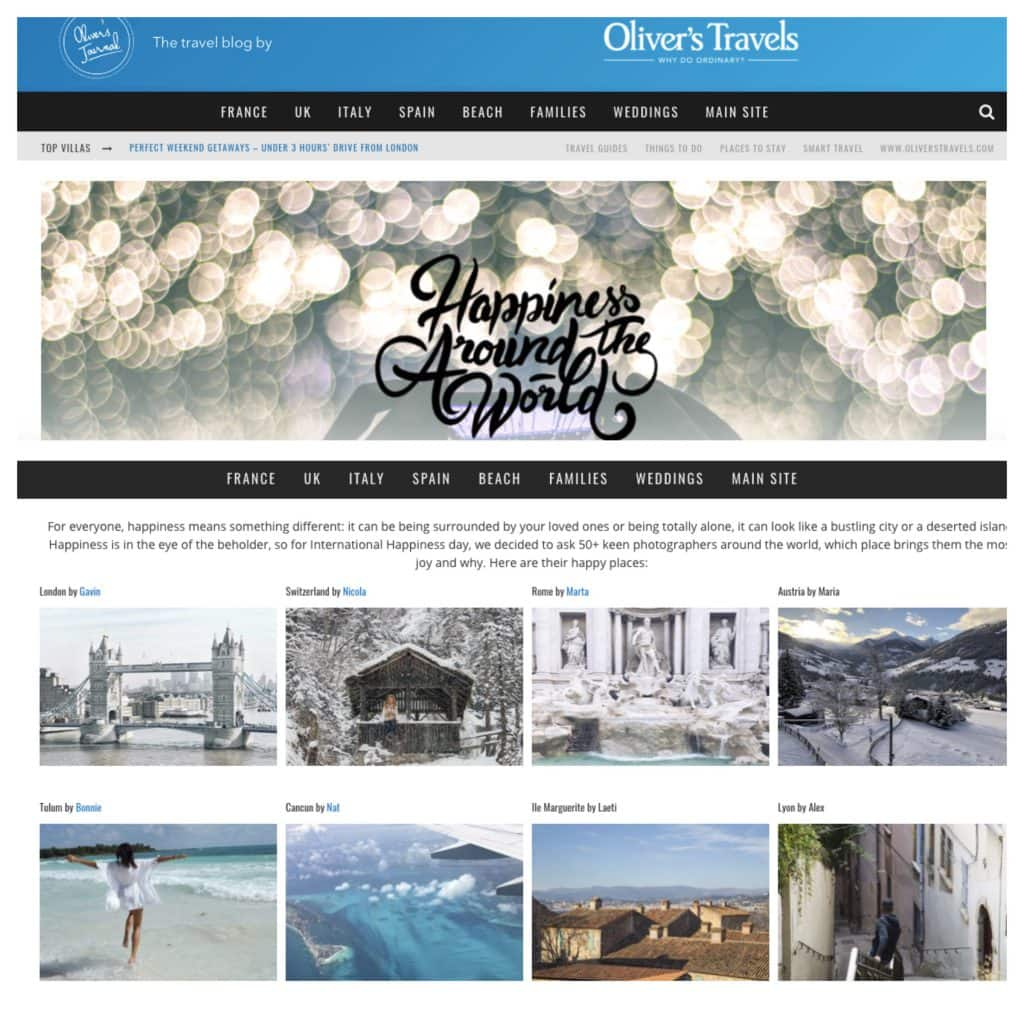 OLIVER'S TRAVELS BLOG PROFILE - FEB 18