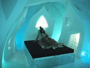 Bonnie The Style Traveller in an Ice room