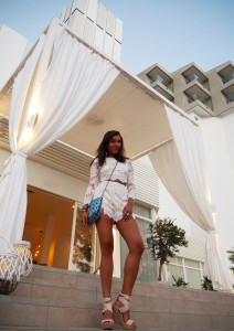 The Style Traveller Bonnie Rakhit Sol Beach house wearing Pretty Little Things