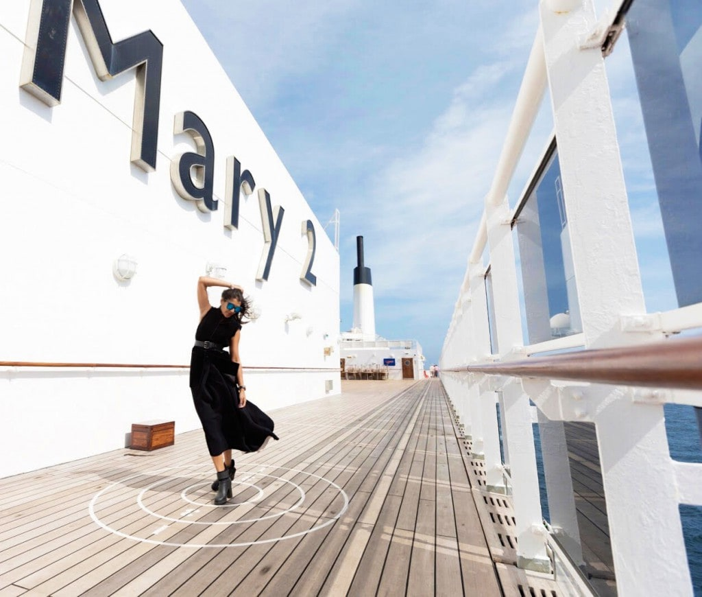 Queen Mary 2 fashion week