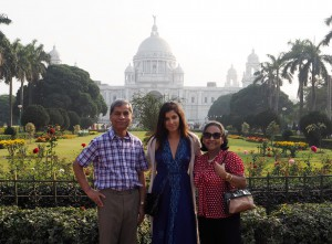 Mum and dad at the Victoria memorial