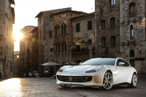Driving a Ferrari lusso in Italy