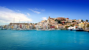Ibiza old town from the sea