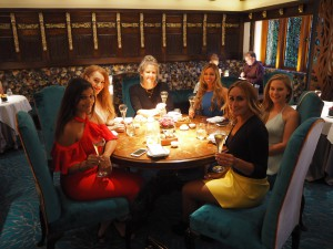 dinner at Latymer restaurant girls