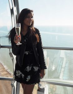 Bonnie Rakhit on British Airways i360 Brighton