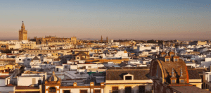 what to do in Seville weekend break destination drone city shot
