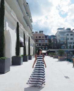Bonnie Rakhit Style Traveller at Regent porto Montenegro luxury hotel beautiful marina croatia