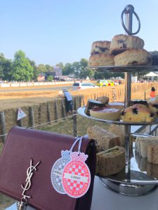 Bonnie Rakhit Goodwood festival of speed with Ferrari sports cars Afternoon Tea