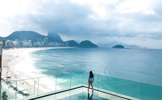 stunning rooftop pool at Miramar by Windsor Rio de Janeiro Brazil Bonnie rakhit style traveller