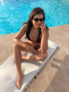 Bonnie Rakhit style traveller Casa Maca Ibiza swimming pool shot