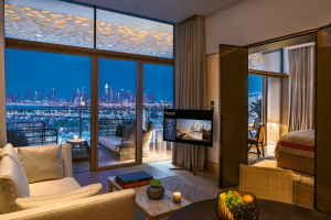 most expensive coolest interiors fashion hotels Dubai Bulgari resort