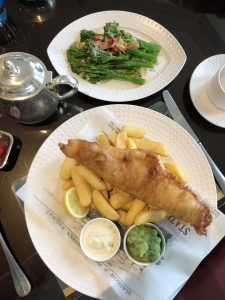 traditional fish and chips UK