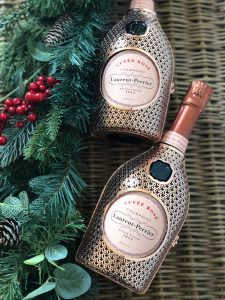 Laurent perrier rose gold caged champagne perfect xmas present