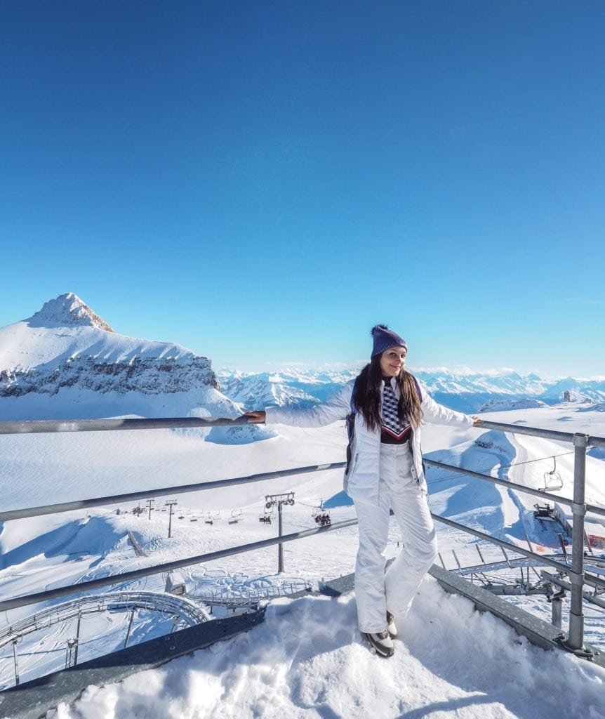 Bonnie Rakhit Gstaad Glacier 3000 skiing Switzerland