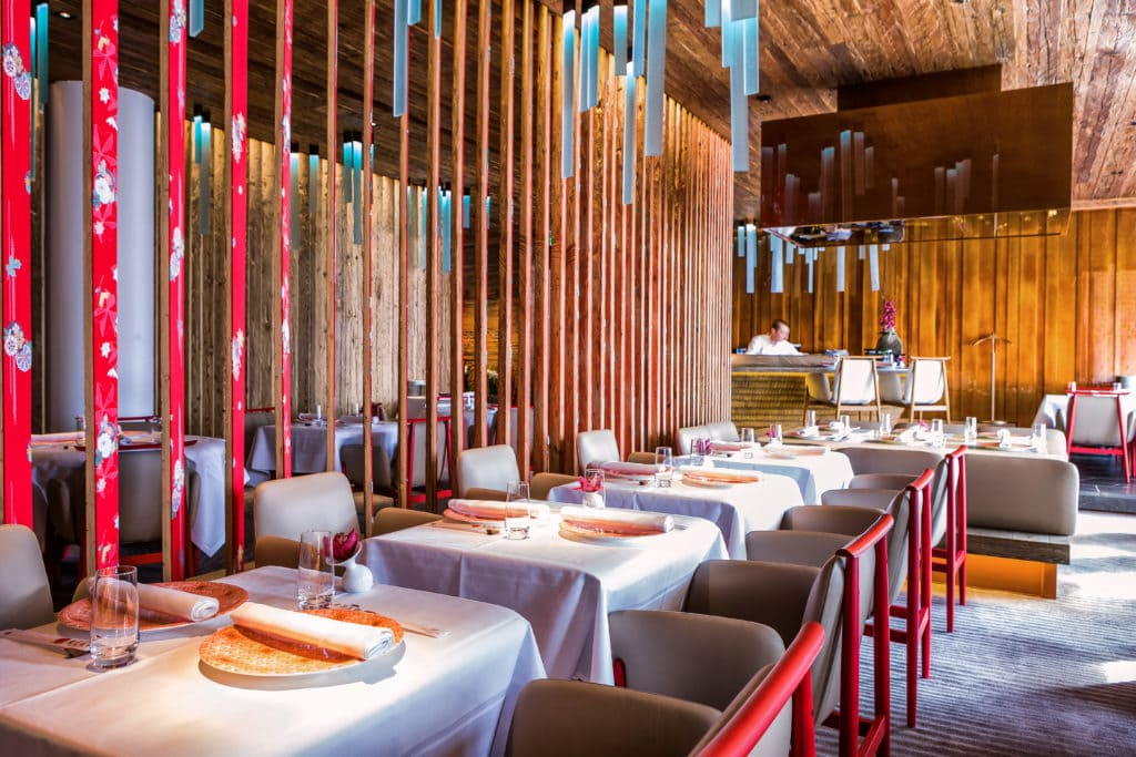 The Alpina Gstaad, Switzerland, Japanese Restaurant MEGU michellin star restaurant