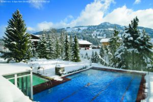 ERMITAGE luxury hotels in Gstaad spa outdoor pool