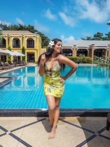 Absolute sanctuary best wellness holidays Thailand Koh Samui Revolve yellow dress Bonnie rakhit