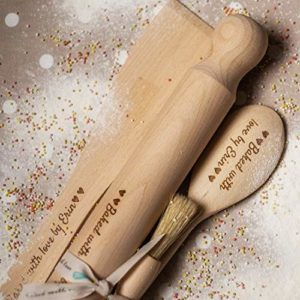 amazon Handmade Personalised-Baking-Set-Wooden-Engraved great valentines presents
