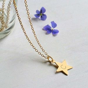 amazon handmade Personalised-celestial star+little+necklace presents for her