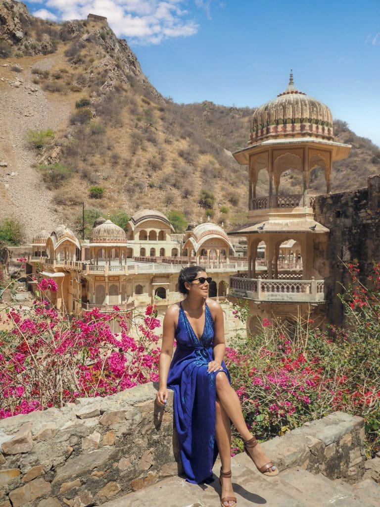 most instagrammable places in Jaipur Rajasthan India Bonnie Rakhit monkey temple jaipur