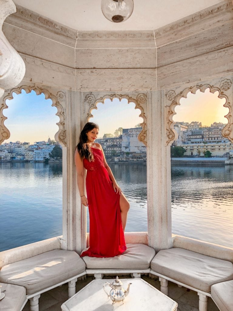 Taj Lake Palace Hotel, Udaipur Bonnie Rakhit marble swimming pool Bonnie Rakhit Little mistress dress