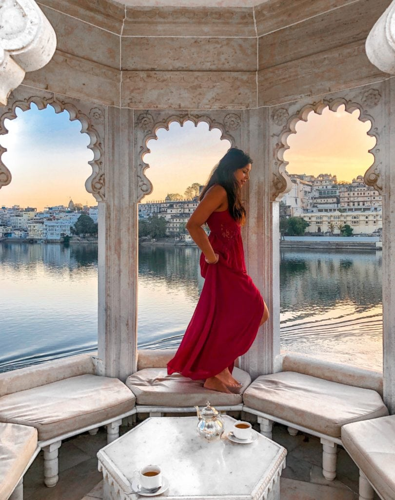 Taj Lake Palace Hotel, Udaipur Bonnie Rakhit marble swimming pool Bonnie Rakhit Little mistress dress bonnie Rakhit The Style Traveller