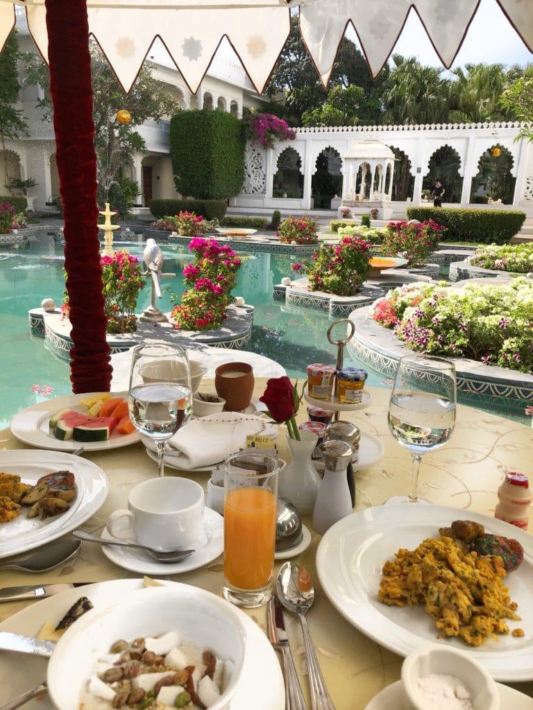 Staying at Taj Lake Palace Hotel, Udaipur Bonnie Rakhit marble garden breakfast
