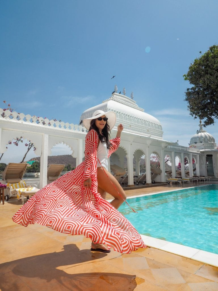 Staying at Taj Lake Palace Hotel, Udaipur Bonnie Rakhit marble swimming pool Bonnie Rakhit alexandra Miro