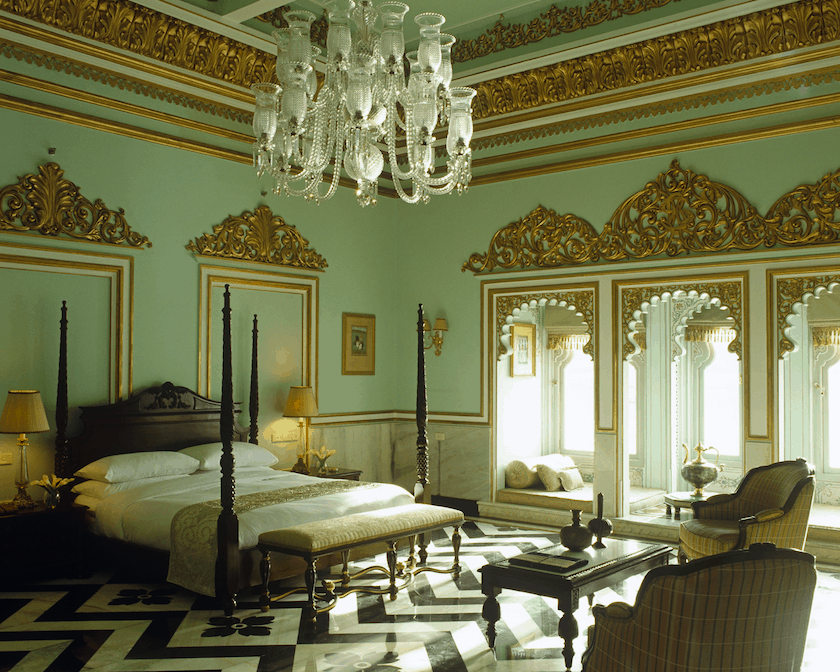 Taj Lake palace bedrooms and suites
